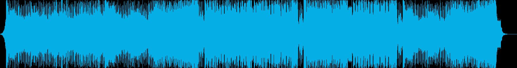 激しく不気味なビッグビート、ダブステップの再生済みの波形
