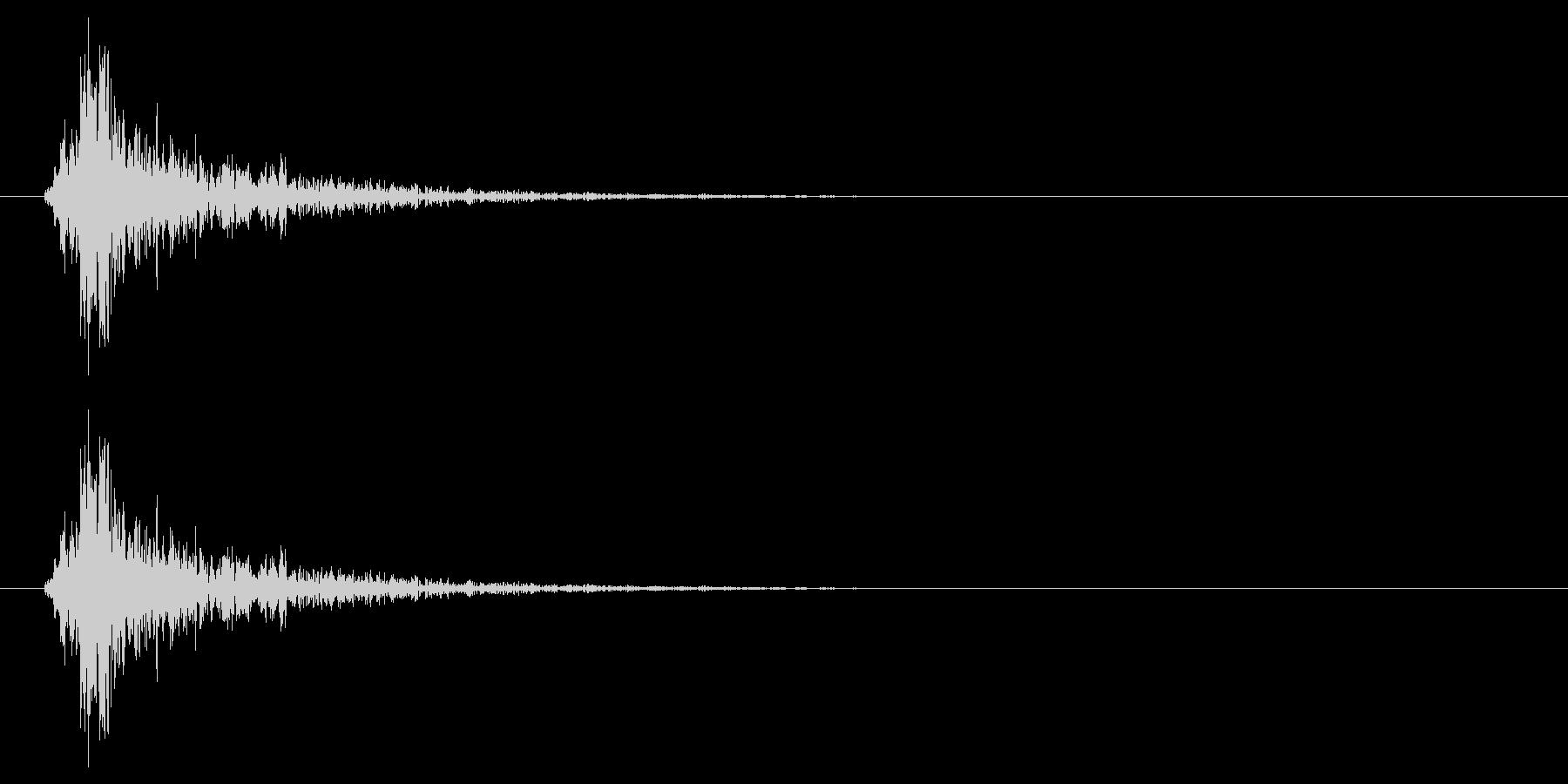 振る音の未再生の波形