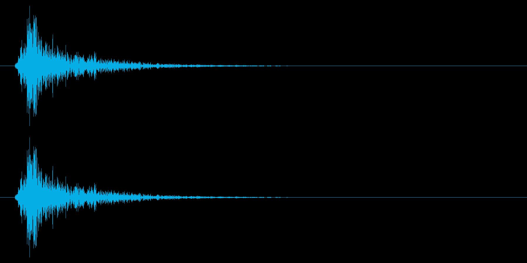 振る音の再生済みの波形