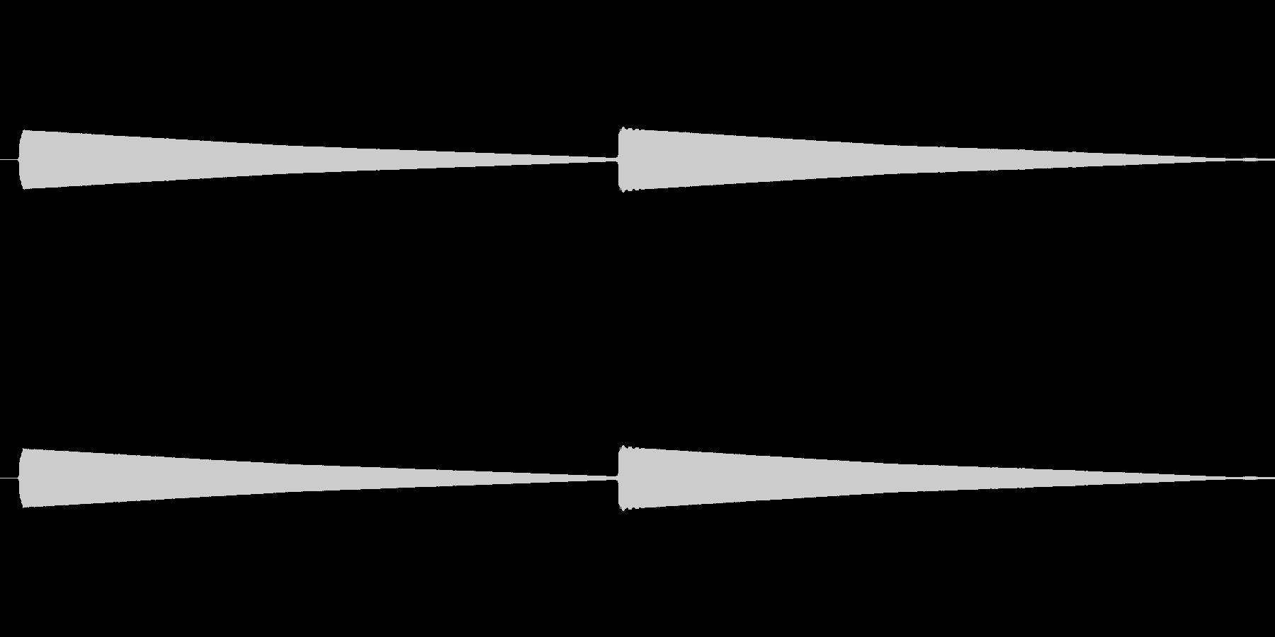 インターホン(ピーンポーン)の未再生の波形