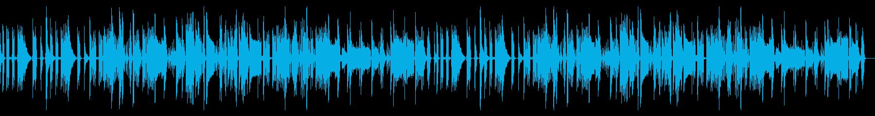コミカルでけだるいスローな楽曲の再生済みの波形