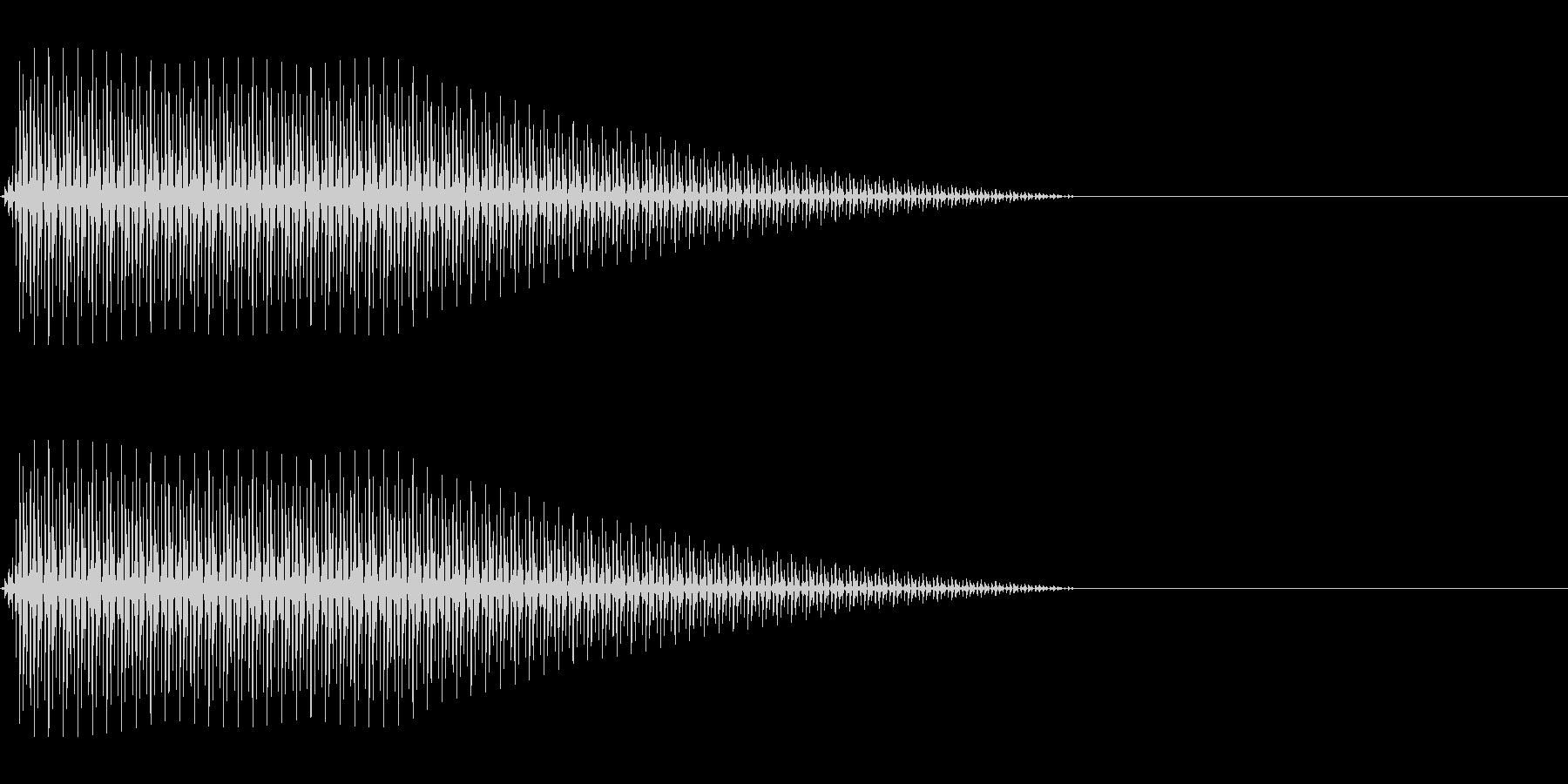 OctaveCom アプリ用タッチ音5の未再生の波形
