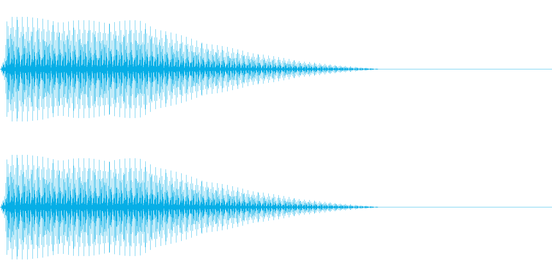 OctaveCom アプリ用タッチ音5の再生済みの波形