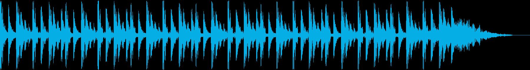 テクノなBGMの再生済みの波形