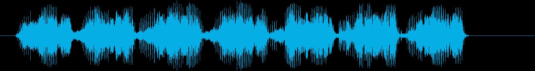 カエル、緑の木の鳴き声、鳴き声、鳴...の再生済みの波形