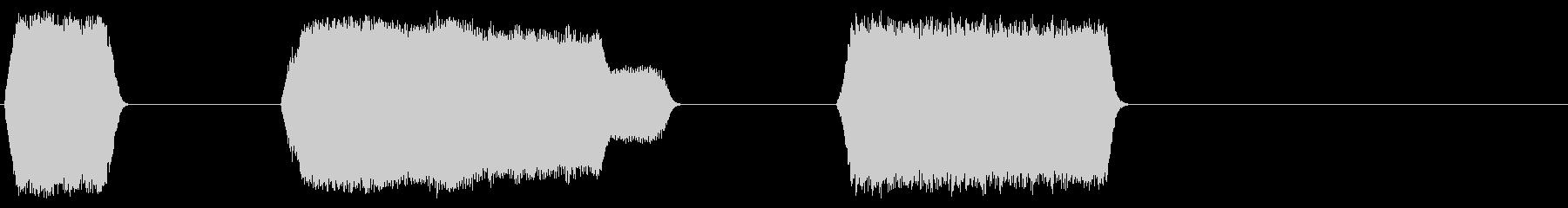 サーボ、レーザーアシストX3の未再生の波形