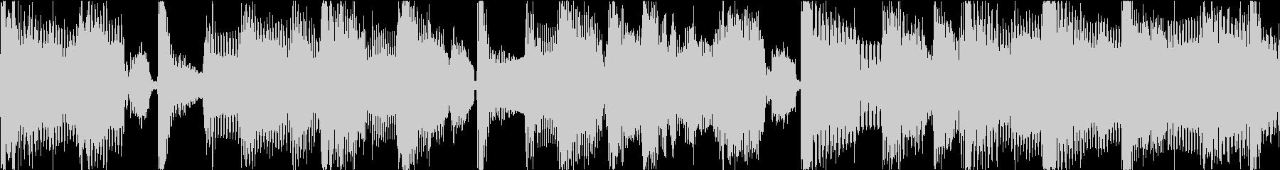 レゲエと盆踊りのコミカルBGMの未再生の波形