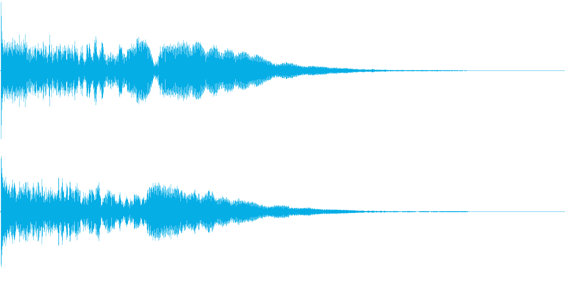 【衝撃音】どーんっっっ!!の再生済みの波形
