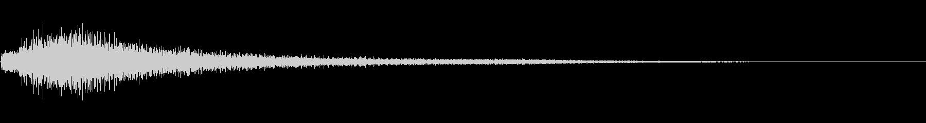 シンプルな低音が効いたピアノジャラーンの未再生の波形
