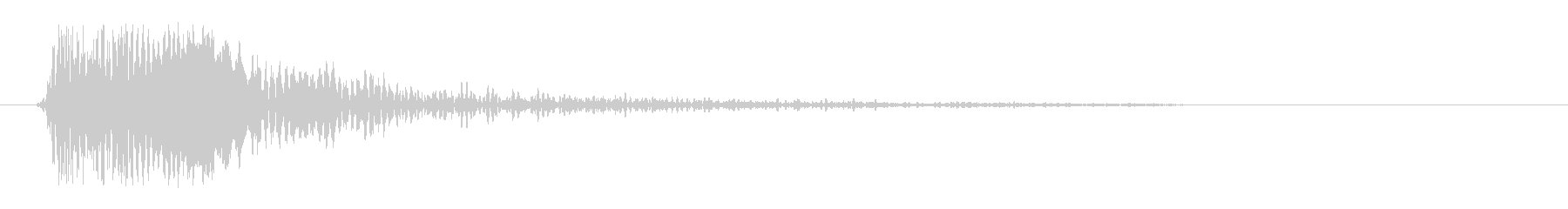 ピヨンっ(アイテムゲットの効果音)の未再生の波形