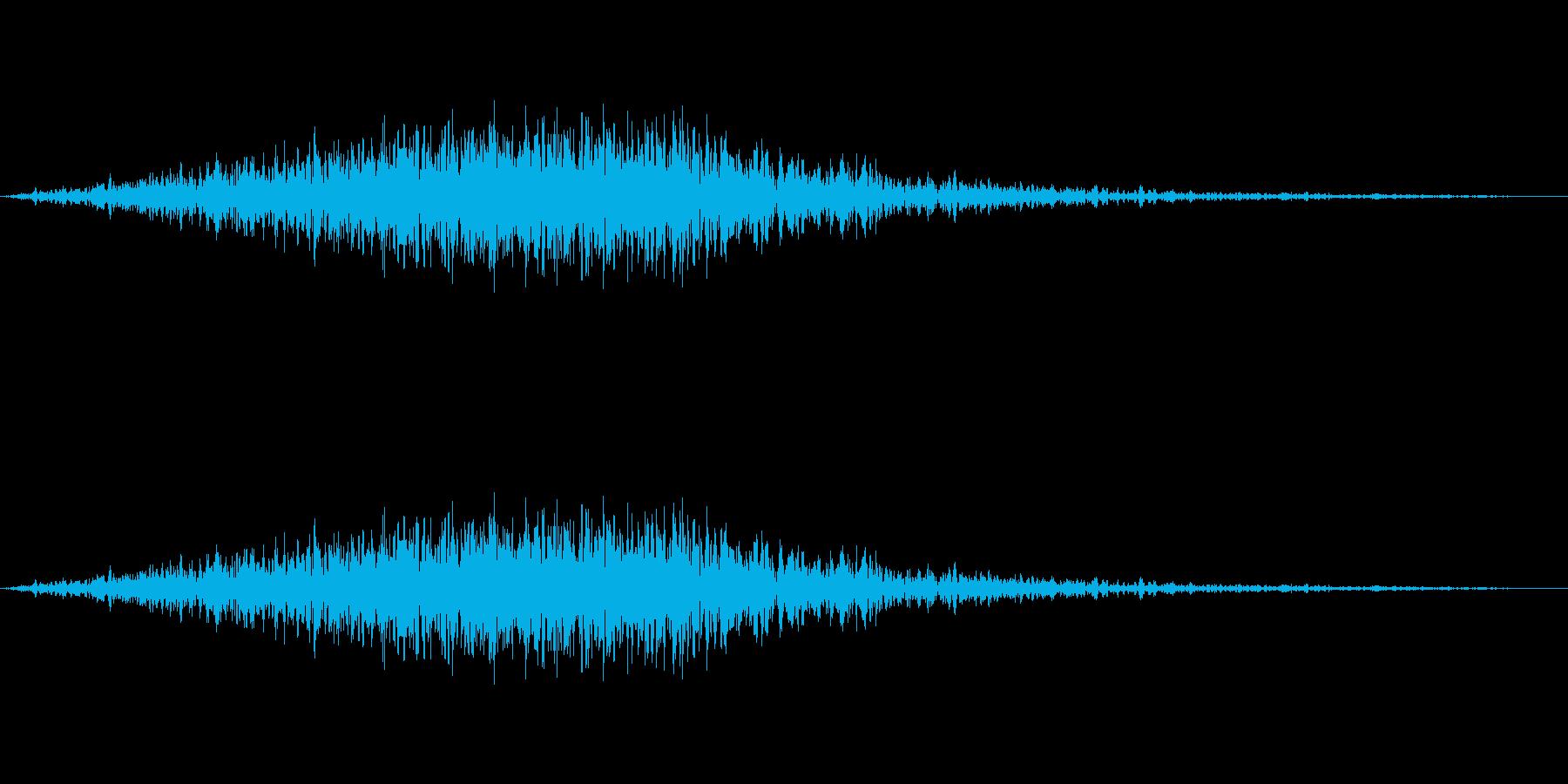 風音01(ピュー/短い系)の再生済みの波形