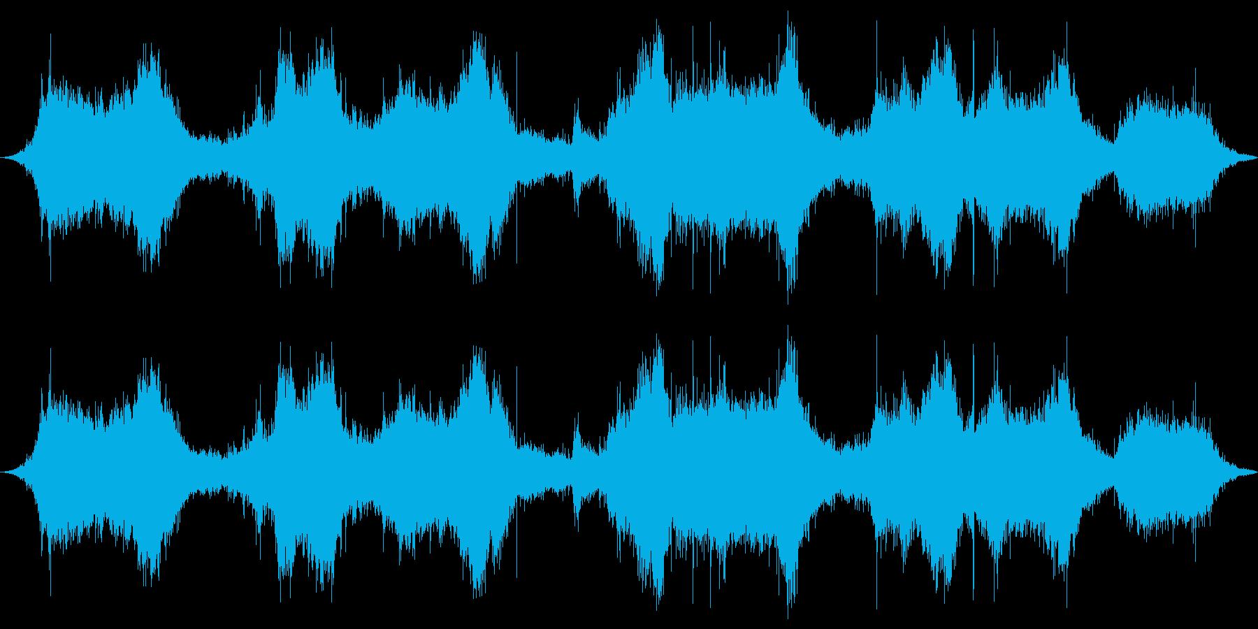 ロックに対する波の再生済みの波形