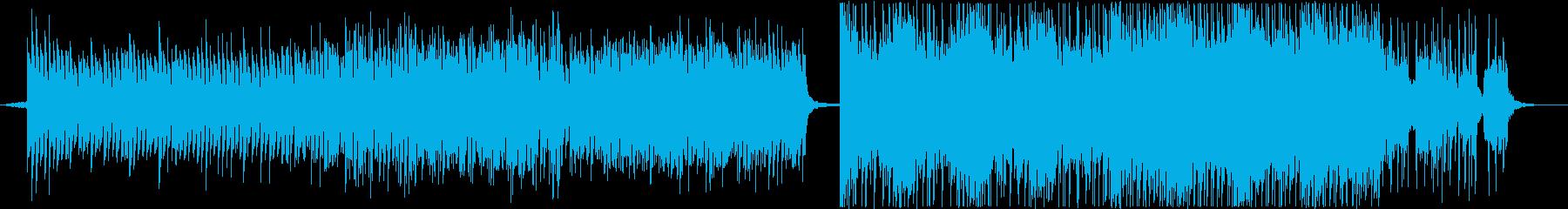 宇宙空間の入りこむようなBGMの再生済みの波形