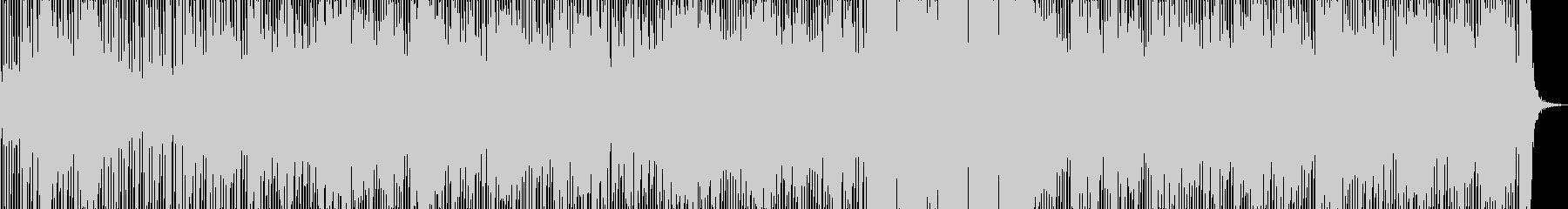 ミディアムテンポのクラブ系サウンドの未再生の波形
