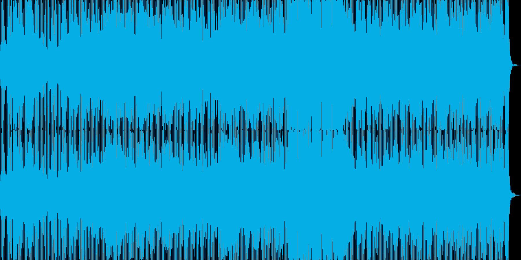 ミディアムテンポのクラブ系サウンドの再生済みの波形