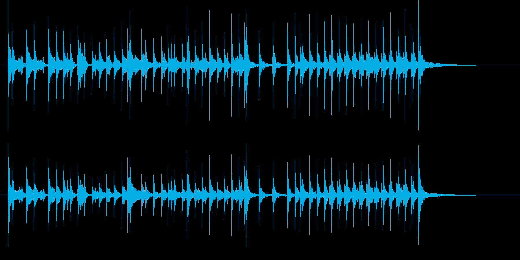 三味線で和風BGM1の再生済みの波形