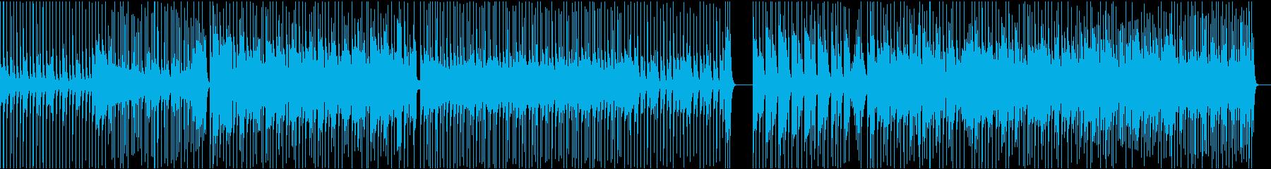 生録音ドラムフレーズその②の再生済みの波形