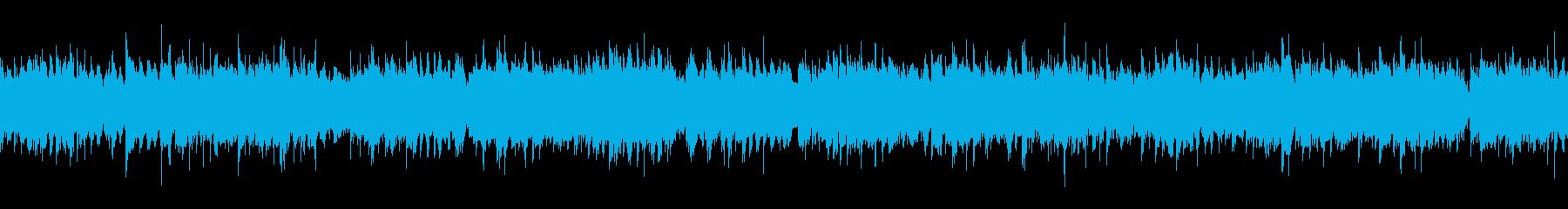アンビエントの気持ち良いヒーリングBGMの再生済みの波形