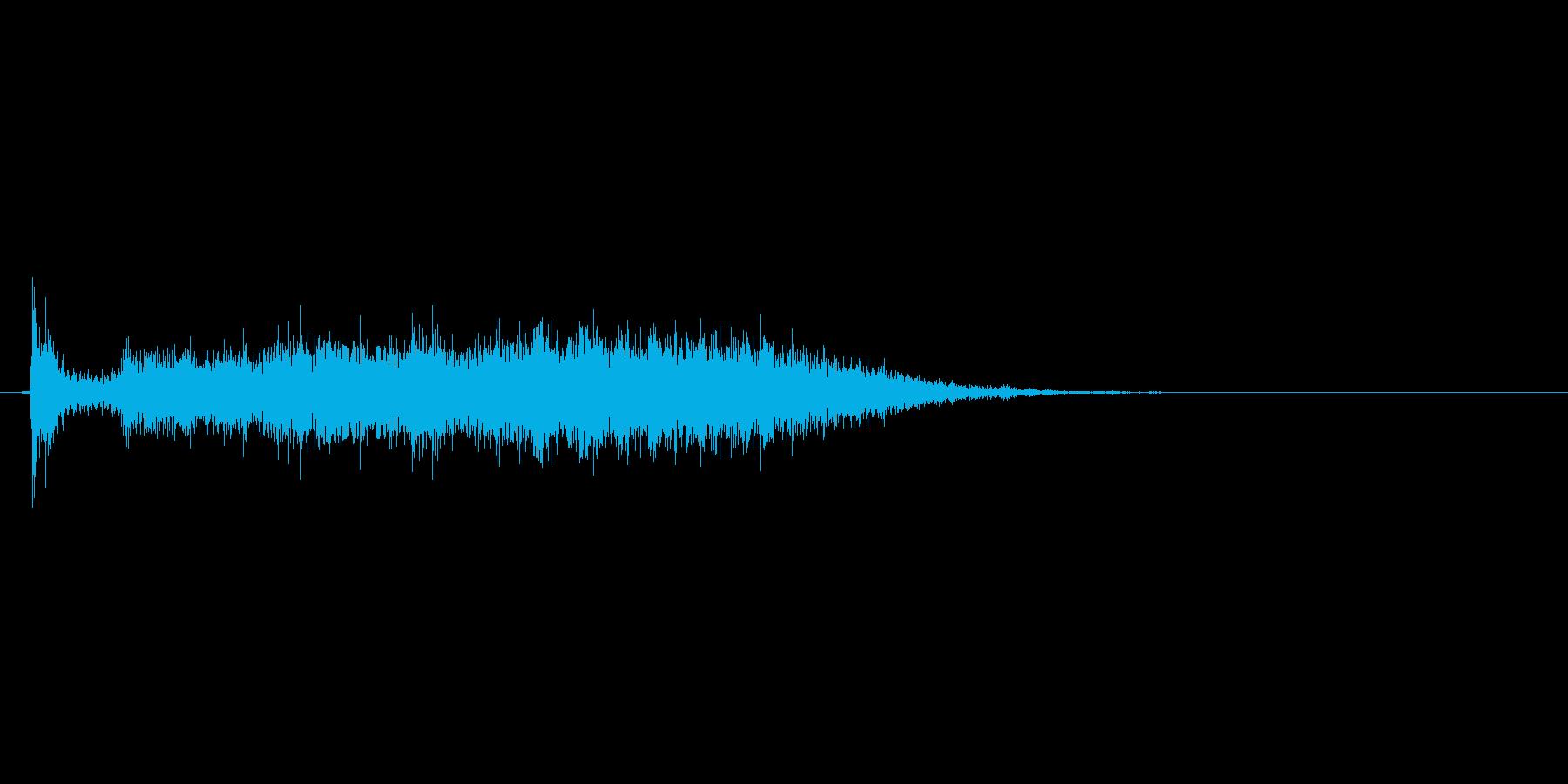 ふすまの開閉音(シャーッ、スーッ)の再生済みの波形