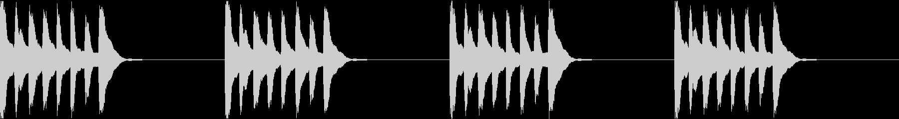 シンプル ベル 着信音 チャイム C11の未再生の波形