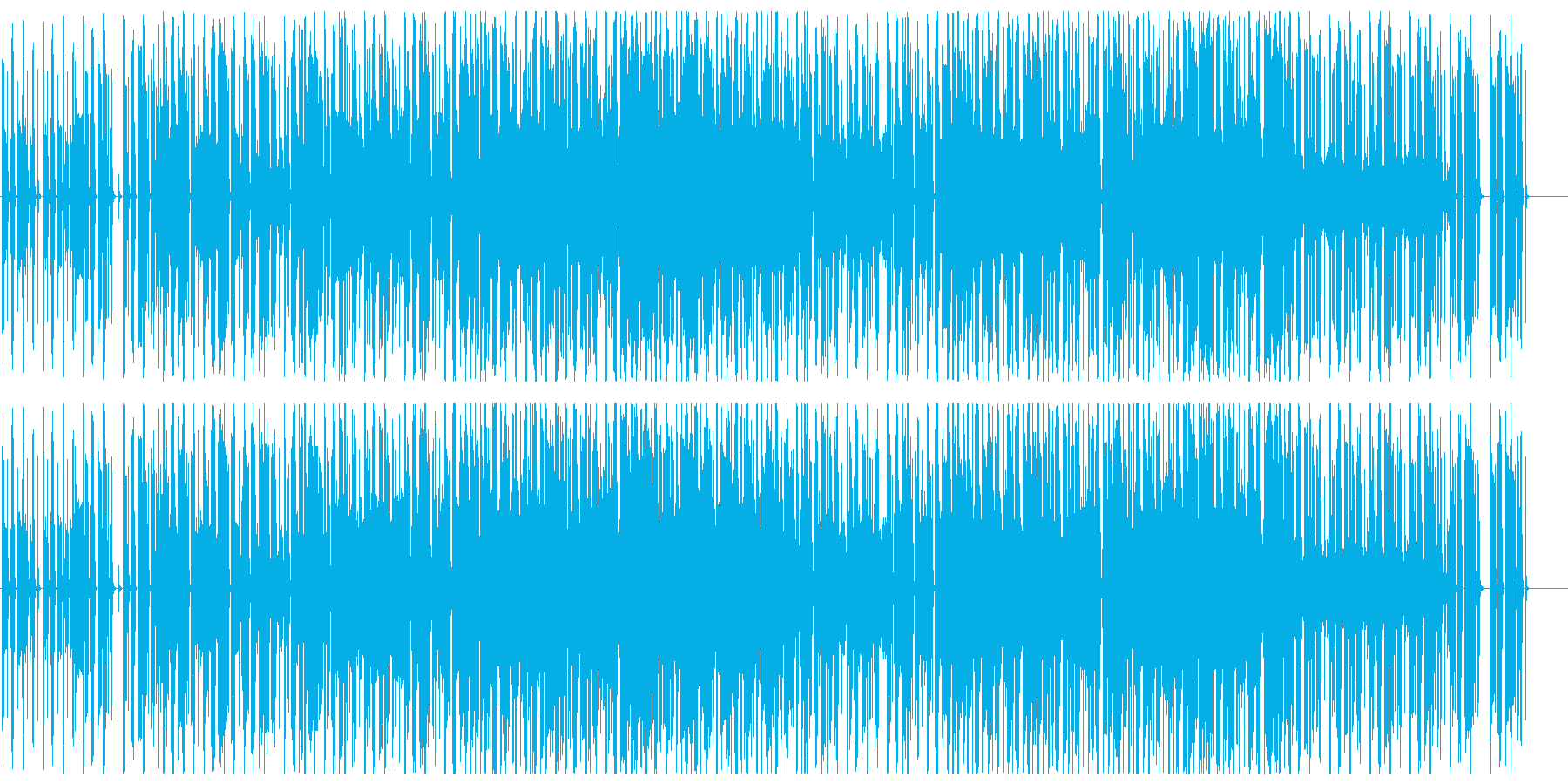 ジャジーでオシャレなチル系ビート フル歌の再生済みの波形