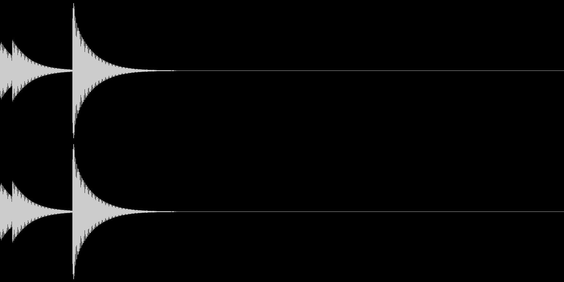 アイキャッチ/システム音/エラー音/4Aの未再生の波形