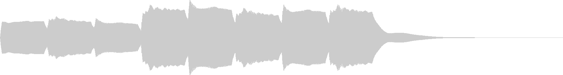 救急車のサイレンC(住宅モード・短)の未再生の波形
