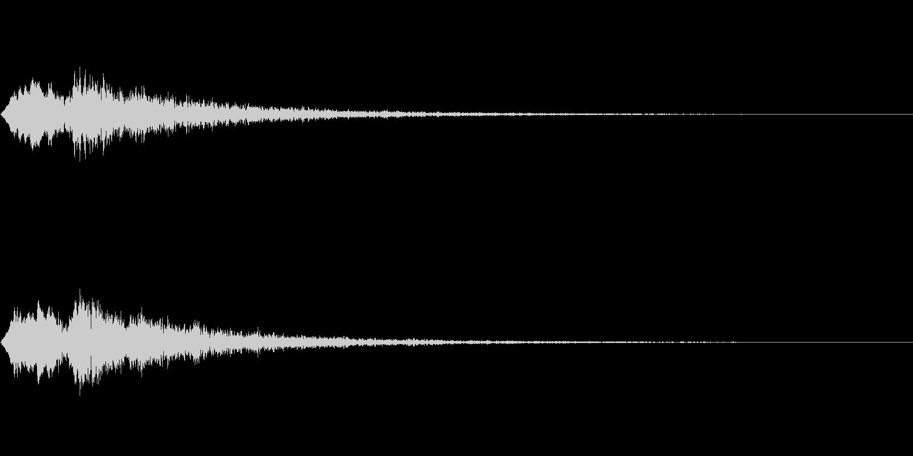 Vox 不気味な鳴き声 ホラーSE 8の未再生の波形