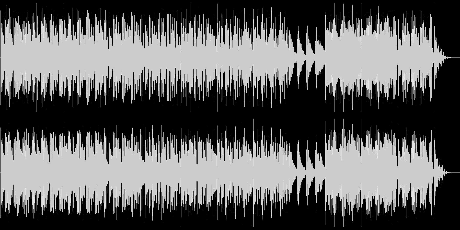 電子音が際立つおしゃれなスローエレクトロの未再生の波形