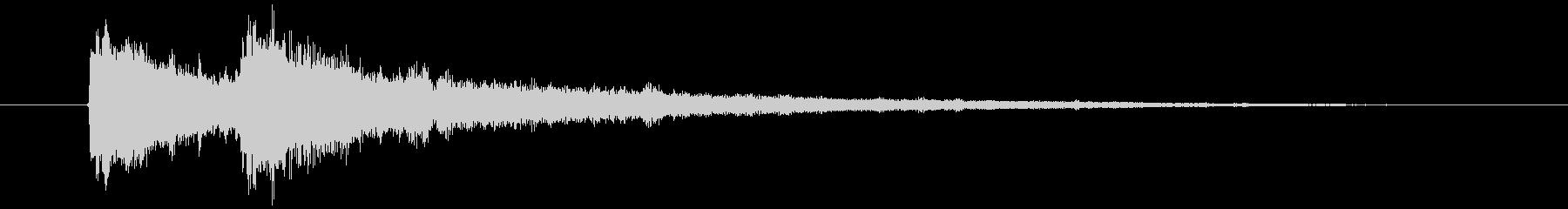 クイズ正解音(ピンポン)4の未再生の波形