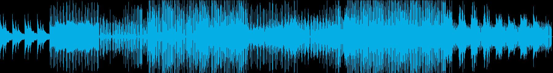 壮大かつ切ない、スローEDM系BGMの再生済みの波形