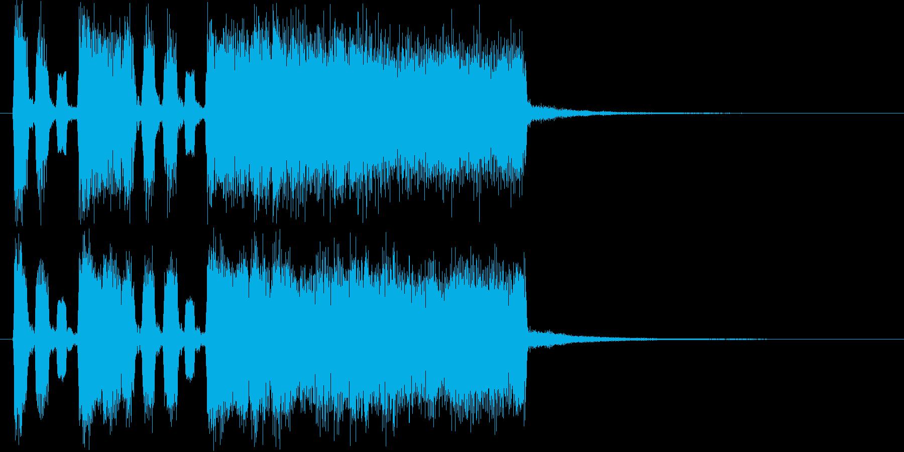 軽快で明るく伸びやかなテクノの再生済みの波形