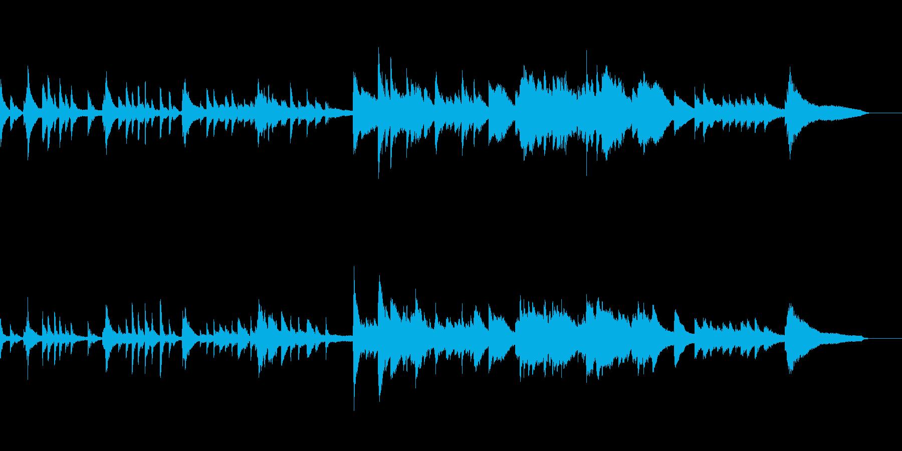 切ないピアノソロ曲・ゲームオーバーなどにの再生済みの波形