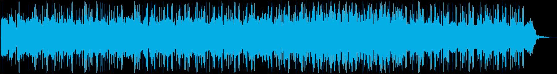 ローファイ色のあるトロピカルハウスの再生済みの波形