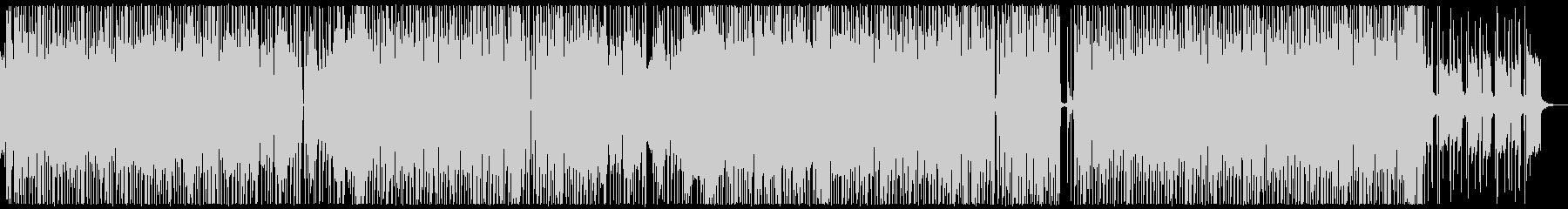 ホーンセクションの切れ味あるファンクの未再生の波形