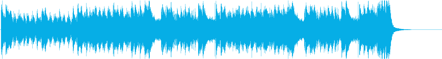 太古の昔、恐竜の時代を想起させる音楽の再生済みの波形