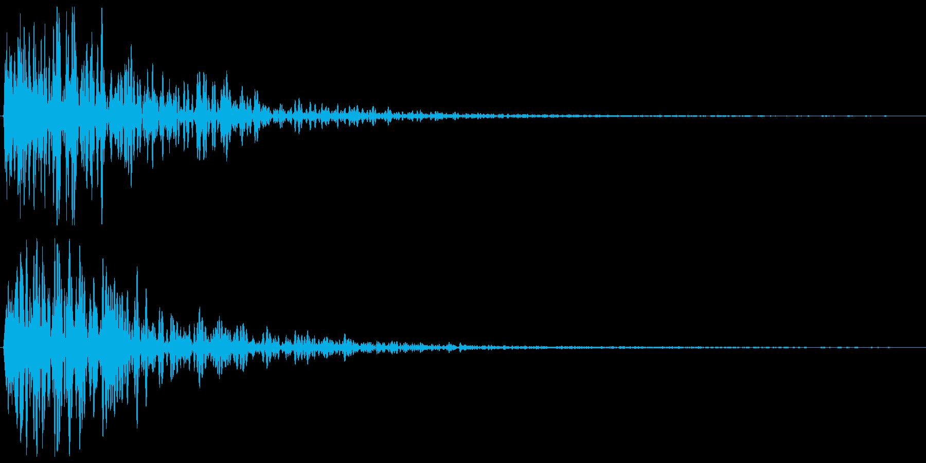 ガーンという金属の音の再生済みの波形