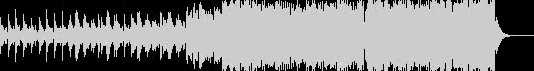 パワフルで高揚感のあるピアノEDMの未再生の波形
