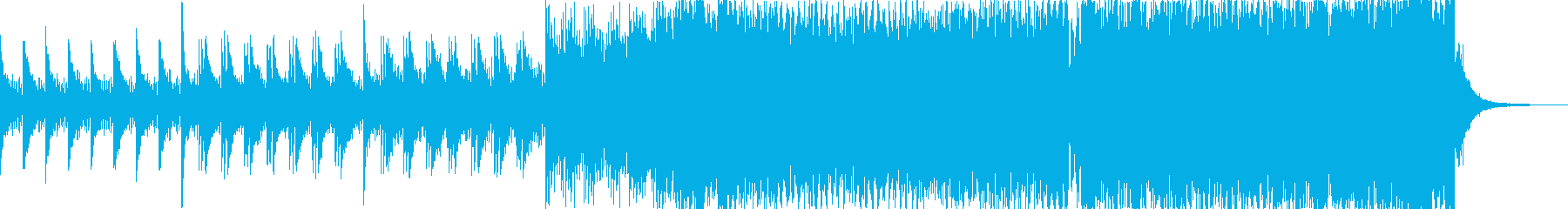 パワフルで高揚感のあるピアノEDMの再生済みの波形