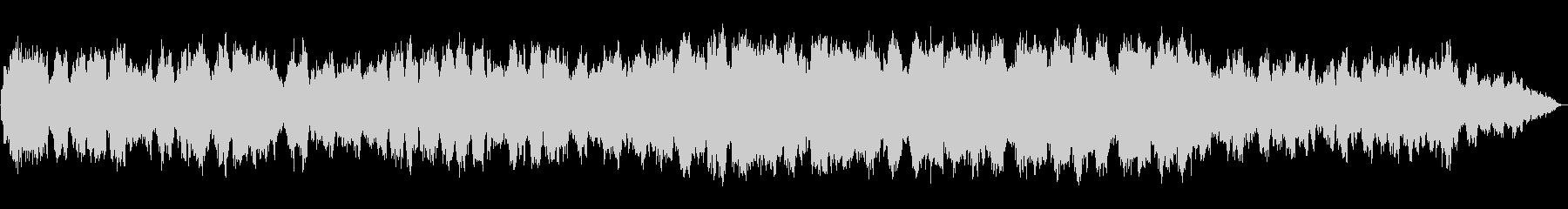 低音の笛の幻想的なゆったりとしたBGMの未再生の波形