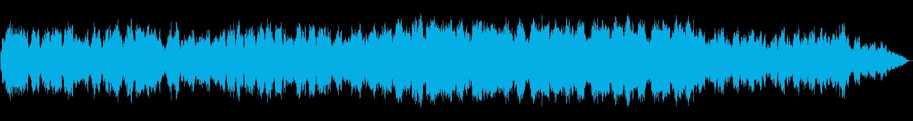 低音の笛の幻想的なゆったりとしたBGMの再生済みの波形