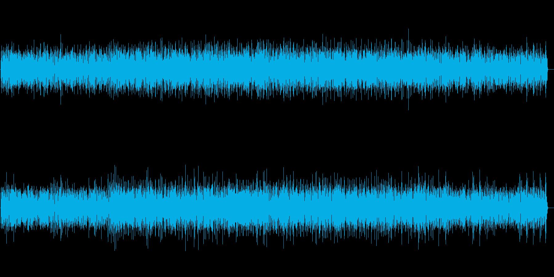 明るく陽気な雰囲気のジャズBGMの再生済みの波形