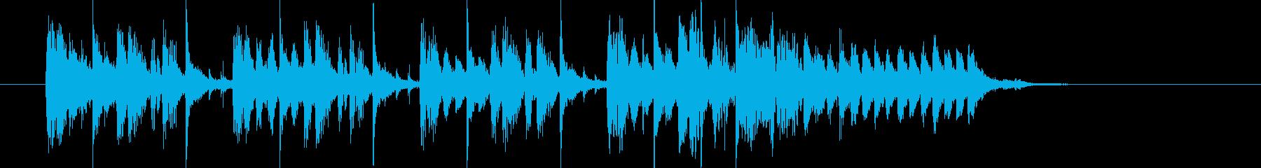 躍動感のあるテクノポップスの再生済みの波形