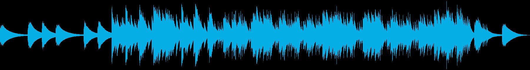 どこか物悲しい雰囲気のあるオルゴール曲の再生済みの波形