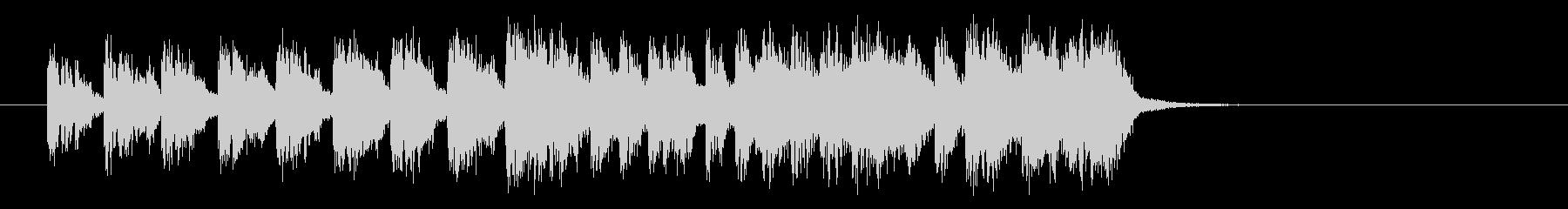 メルヘンなテクノポップスの未再生の波形