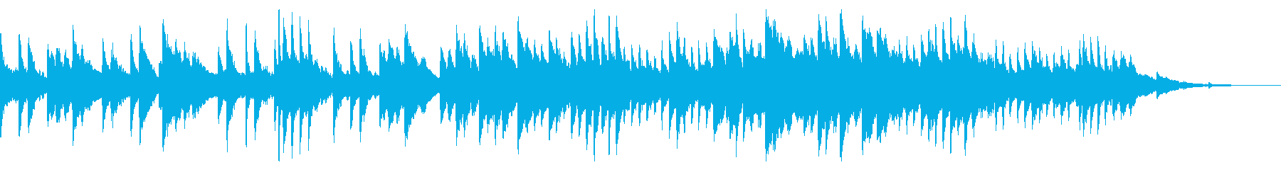 切ないけど希望もあるような3拍子のピアノの再生済みの波形