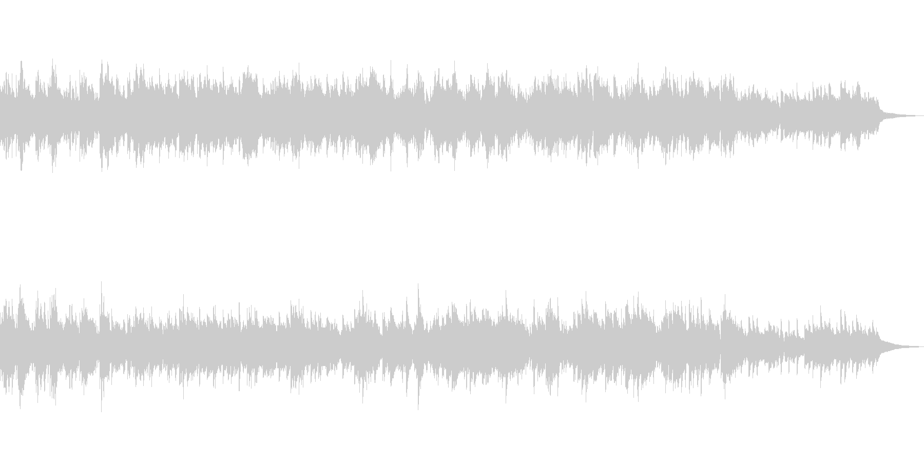 アンニュイで穏やかな ピアノ・バラードの未再生の波形