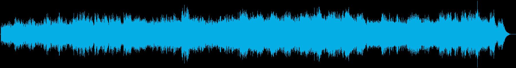 優しく透き通るシンセサイザーサウンドの再生済みの波形