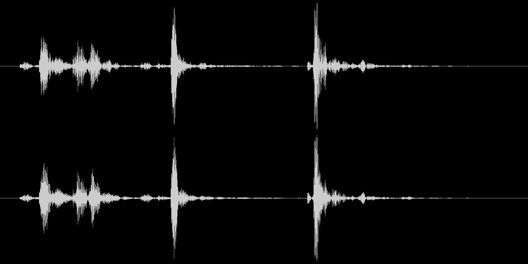 電話(受話器を上げる、戻す②)カココッ の未再生の波形