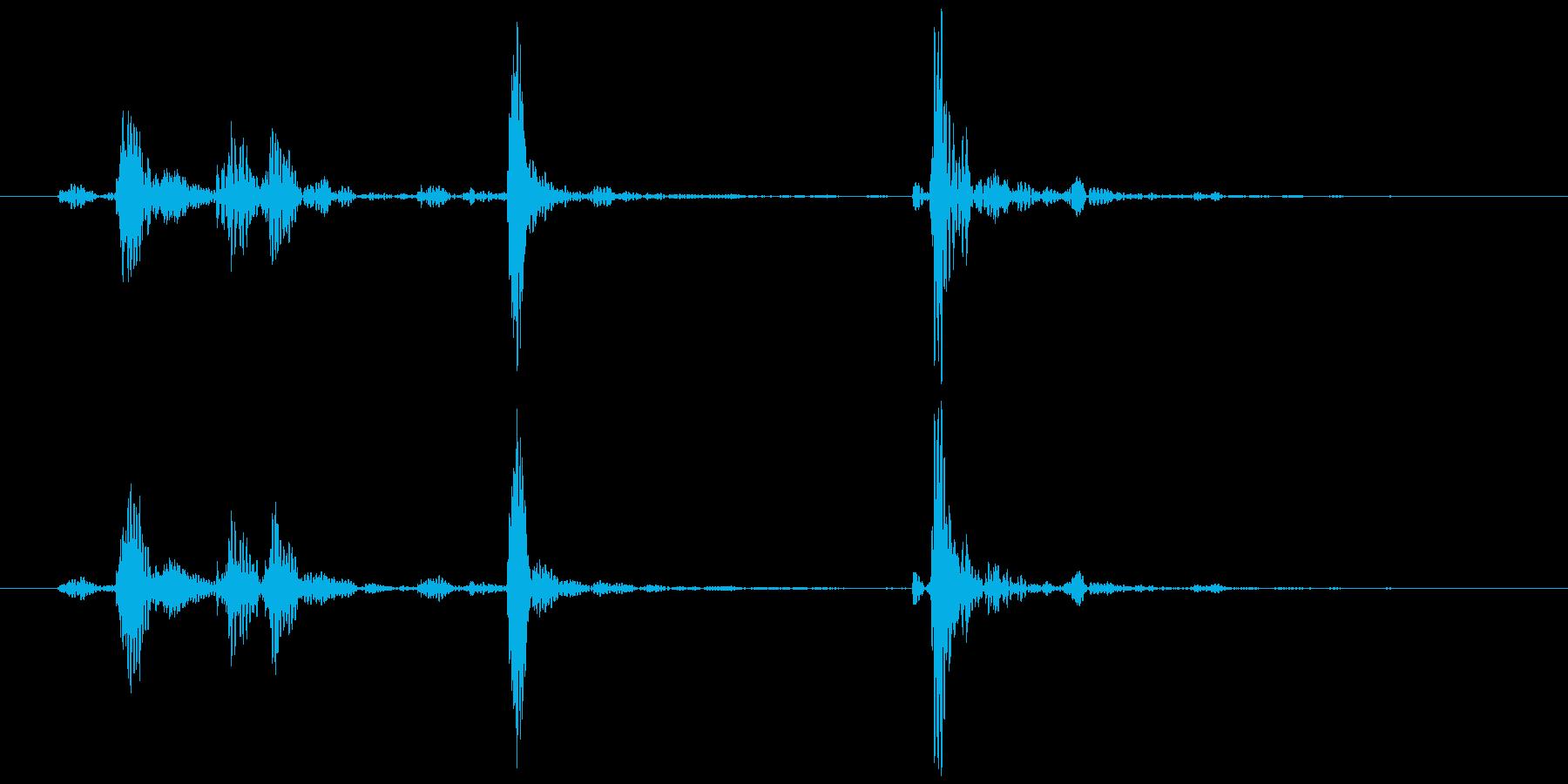 電話(受話器を上げる、戻す②)カココッ の再生済みの波形